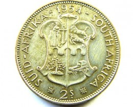 SOUTH AFRICA   2 SC    COIN     1954   OP 344