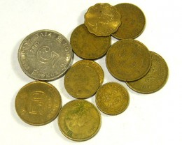 HONG KONG COIN L11, 1949-1995 5, 10, 20, 50 CENT & $5 T1319