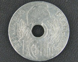INDO CHINA   COIN    HANOI 1 CENT 19 45  OP 913
