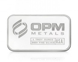 one ounce silver bar .999 silver OPM metals usa