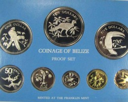 THE 1975 COINAGE OF BELIEZE FORMLEY HONDURAS  CO 1001
