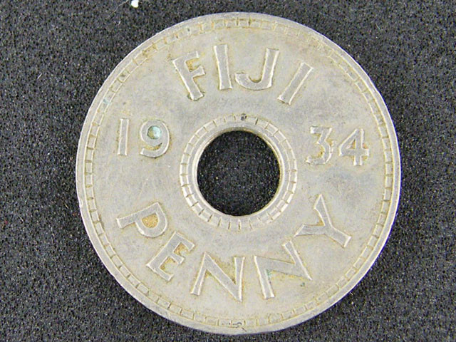 FIJI LOT 1, ONE PENNY COIN 1934 T508